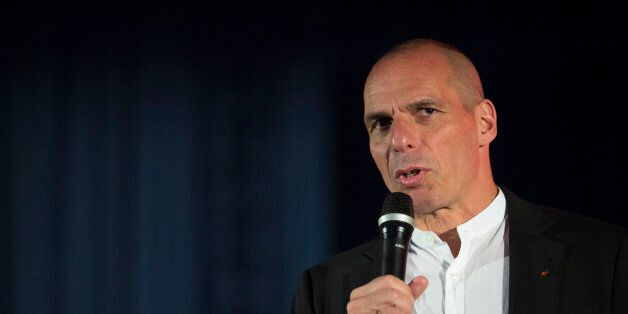 Yanis Varoufakis in the meeting of