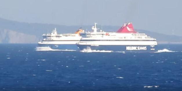 «Κόντρα» και προσπέραση στο Αιγαίο: Blue Star Naxos εναντίον Nissos
