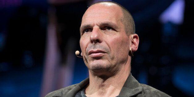 HAY ON WYE, UNITED KINGDOM - MAY 29: Yanis Varoufakis, former Greek finance ministerat the Hay Festival...