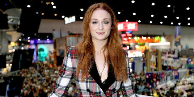 SAN DIEGO, CA - JULY 21: Actress Sophie Turner at the 'Game of Thrones' autograph signing with HBO at...