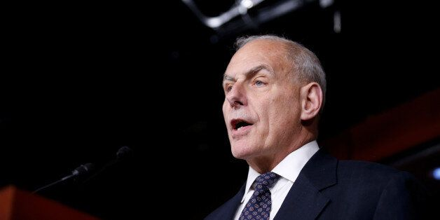 Secretary of Homeland Security John Kelly speaks about immigration reform at a press conference on Capitol...
