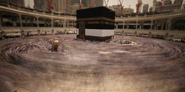 Kaaba in Masjid Al Haram in Mecca Saudi