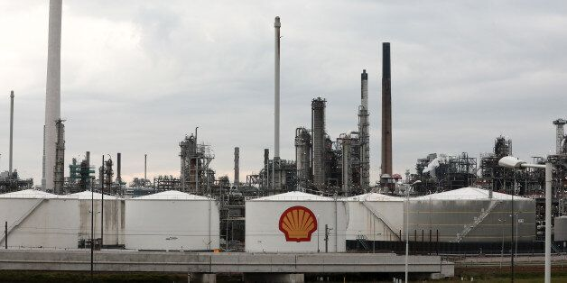 An oil refinery, operated by Royal Dutch Shell Plc, stands at the Port of Rotterdam in Rotterdam, Netherlands,...