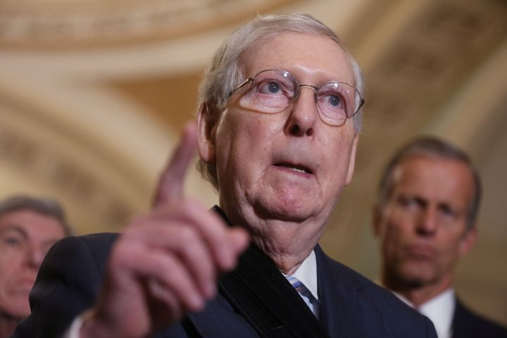"Senate Majority Leader Mitch McConnell earned the nickname ""Moscow Mitch"" after repeatedly blocking election security funding"