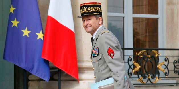 Chief of the Defence Staff of the French Army General Pierre de Villiers arrives for an annual Franco-German...