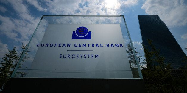FRANKFURT AM MAIN, GERMANY - APRIL 27: The European Central Bank (ECB) heatquarters pictured on April...