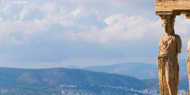 View from the Caryatids, Parthenon, Athens,
