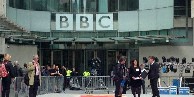 London, UK - May 5, 2015: BBC producers preparing the giant map of UK parliamentary constituencies ahead...