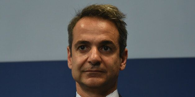 Leader of Opposition and New Democracy (Nea Dimokratia), Kyriakos Mitsotakis at the opening of the re...