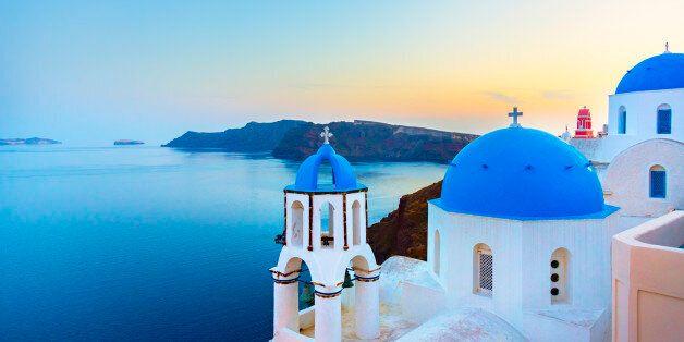 Church in Oia (Santorini, Greece).