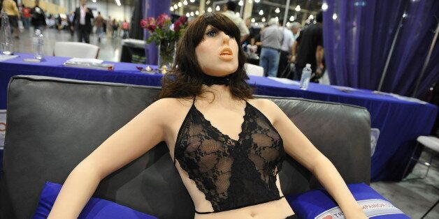 The 'True Companion' sex robot, Roxxxy, on display at the TrueCompanion.com booth at the AVN Adult Entertainment...