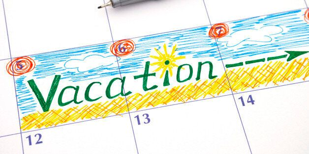 Reminder Vacation in calendar with