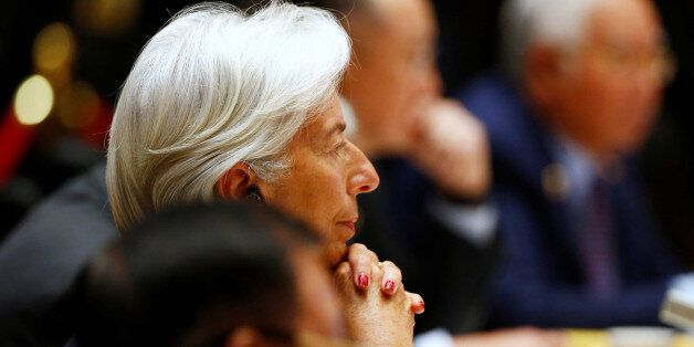 International Monetary Fund (IMF) Managing Director Christine Lagarde attends a summit at the Belt and...
