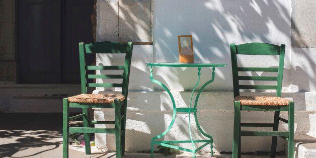 Typical greek restaurant.