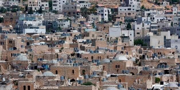 A picture taken on June 29, 2017 shows a view of the houses in the old town of the divided city of Hebron...