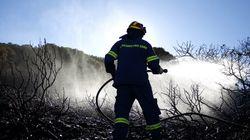 Yπό μερικό έλεγχο οι φωτιές σε Λαύριο, Αρτέμιδα και Ηράκλειο