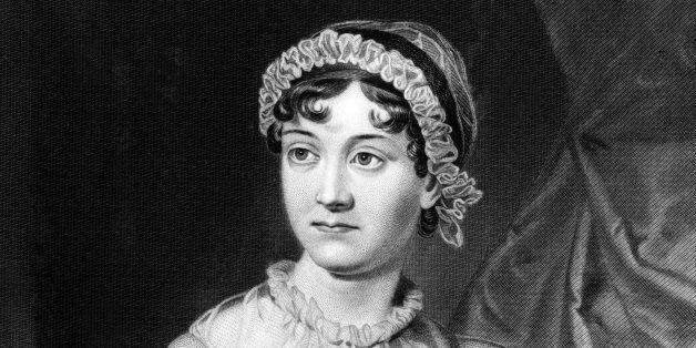 Portrait of Jane Austen (1775-1817) English novelist, whose works or romantic fiction. Dated 1810. (Photo...