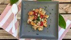 Συνταγή για «γλυκοπατατοσαλάτα» με σπιτική