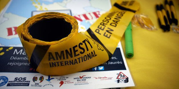 For the World Refugees Days, NGOs like Amnesty International, Medecins sans frontières organized a gathering...