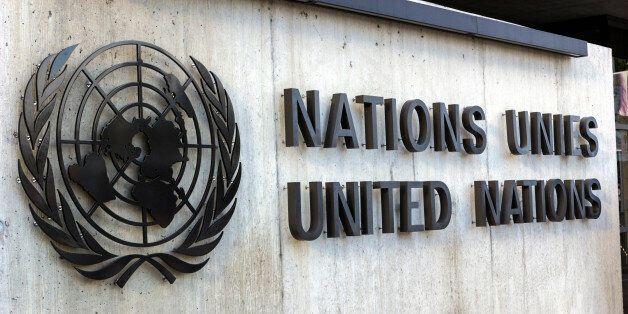 Geneva, Geneva Canton, Switzerland - August 10, 2015: United Nations Office at Geneva in