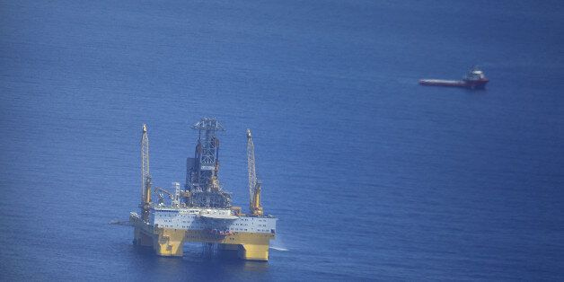 SOUTH CHINA SEA, CHINA - JUNE 09: Image shows the platform for the trial mining of flammable ice at Shenhu...