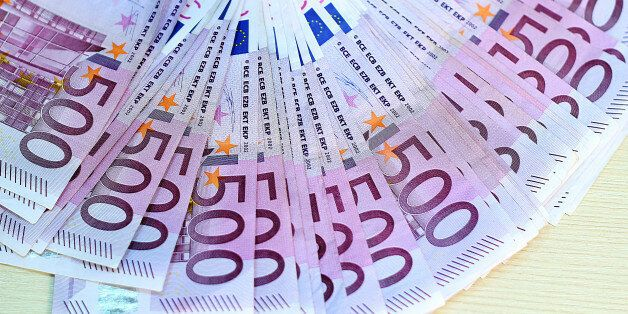 European Union Currency. Counting Money.