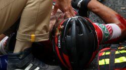 «Πάγωσαν» στον γύρο Γαλλίας με το σοκαριστικό ατύχημα