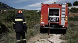Υπό μερικό έλεγχο η πυρκαγιά στην Άνω Μέλπεια