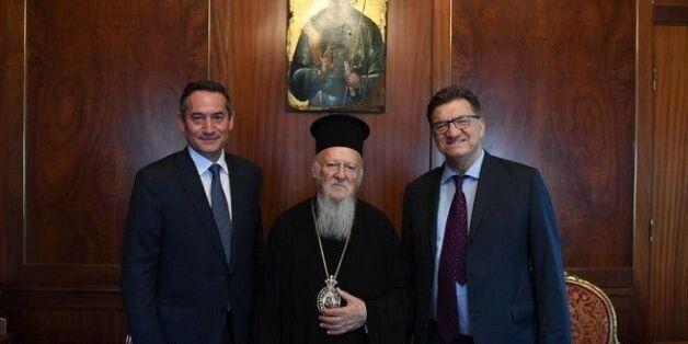 Συνάντηση του Οικουμενικού Πατριάρχη με τον πρόεδρο της 24Media Δημήτρη