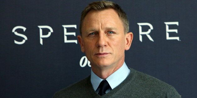 Actor Daniel Craig poses during a photocall for the new James Bond 007 film