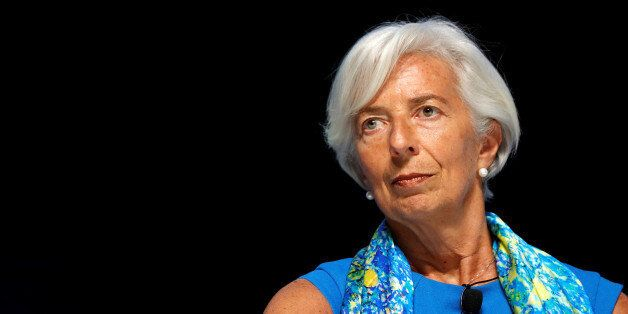 Christine Lagarde, head of the International Monetary Fund (IMF), attends a conference at the Cannes...