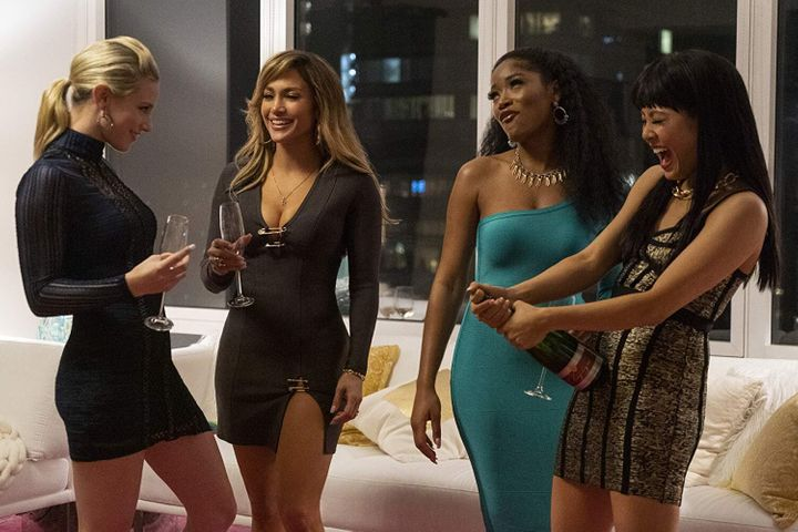 "Jennifer Lopez, Constance Wu, Keke Palmer, and Lili Reinhart are the women behind a money-making scheme that involves drugging clients with a MDMA-ketamine drug cocktail in ""Hustlers."""