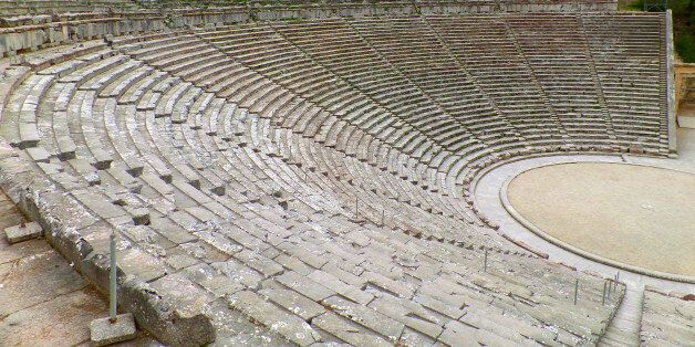 The Incredible Well Preserved Ancient Theater of Epidaurus on Peloponnese Peninsula of Greece, UNESCO...
