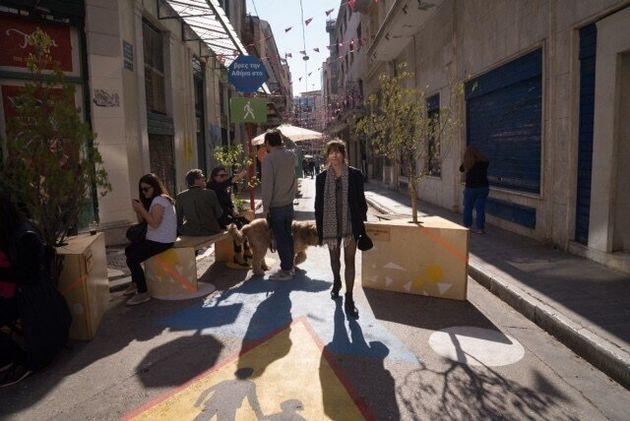 Ακόμη τέσσερις πεζοδρόμοι στο Εμπορικό Τρίγωνο της Αθήνας από την Πέμπτη 22