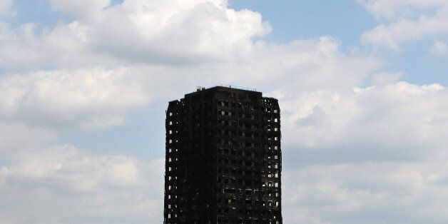 The burnt out shell of the Grenfell Tower apartment block in North Kensington, London, Britain, June...
