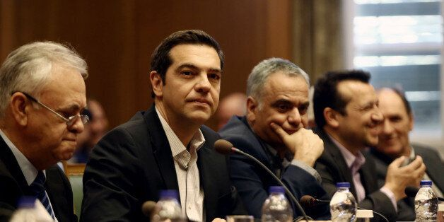 PM Alexis Tsipras, during a Government cabinet meeting, at Parliament, in Athens, on June 13, 2017 about...