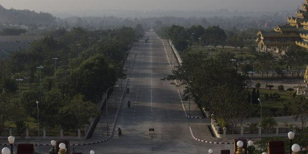 A highway is seen from the Uppatasanti Pagoda in Naypyidaw, Myanmar, on Wednesday, Feb. 3, 2016. Myanmar's...