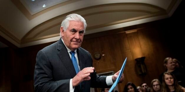 US Secretary of State Rex Tillerson arrives for a hearing of the Senate Foreign Relations Committee on...