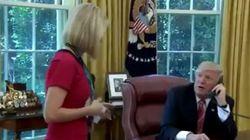 Ο Τραμπ κάλεσε ξένη δημοσιογράφο στο γραφείο του για να θαυμάσει «πόσο όμορφη