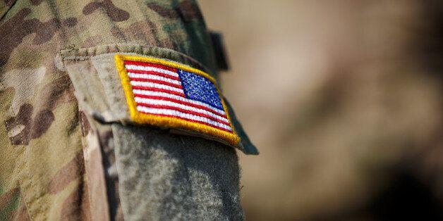 USA flag and US