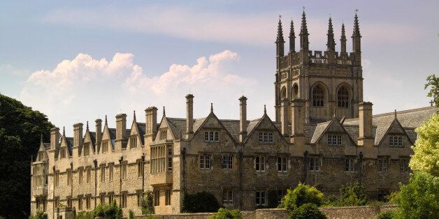 An Oxford University College building, afternoon