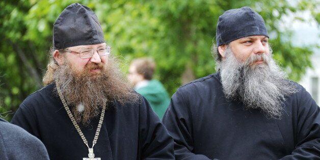 MOSCOW, RUSSIA - MAY 31, 2017: Believers at the Rogozhskaya Zastava Spiritual Centre of the Russian Orthodox...