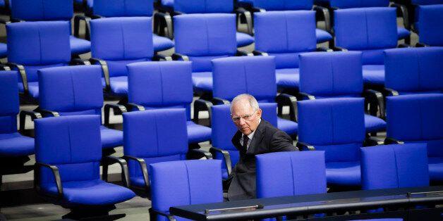 Berlin, Germany - November 22: German Finance Minister Wolfgang Schaeuble attends a meeting of German...