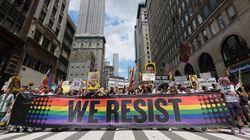 Με συνθήματα κατά του Τραμπ, του ρατσισμού, και της οπλοκατοχής το Gay Pride στη Νέα