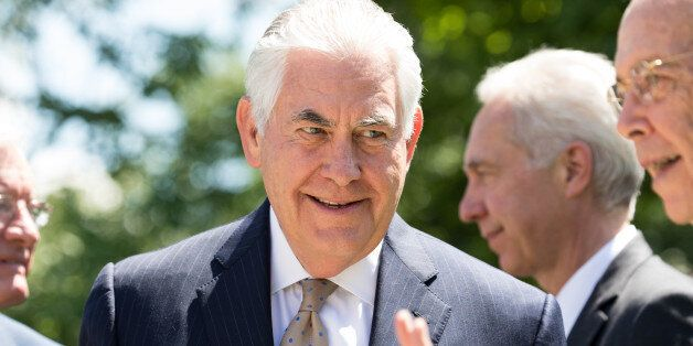 U.S. Secretary of State Rex Tillerson, attended the joint press conference of President Donald Trump...