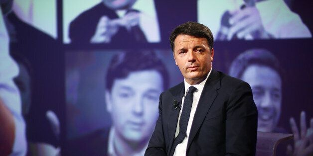 ROME, ITALY - MAY 14: PD Secretary Matteo Renzi attends the 'L'Arena' TV show at Cinecitta Studios on...