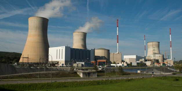 A picture taken on May 9, 2016, shows the nuclear Belgian power plant of Tihange near Huy. The Dutch...