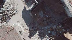 Drone καταγράφει το μέγεθος της καταστροφής στη