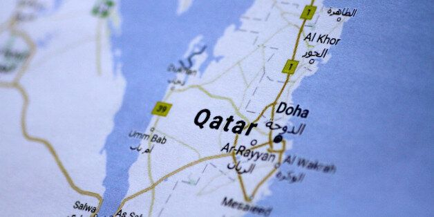 A map of Qatar is seen in this picture illustration June 5, 2017. REUTERS/Thomas