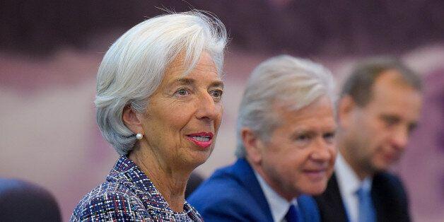 BEIJING, CHINA - MAY 14: Managing Director of the International Monetary Fund (IMF) Christine Lagarde...